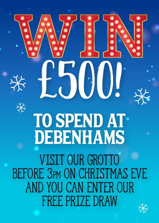 Win £500 to spend at Debenhams